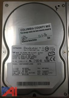 Lot of (41) Hitachi Deskstar 80GB Hard drives SATA