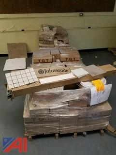 Large lot of various floor tiles
