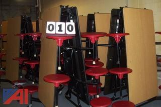 (11) Folding Cafeteria Tables