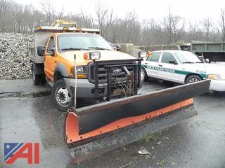2005 Ford F550 Stainless Dump w/ Plow