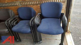 (8) Lot of Rolling Arm Chairs