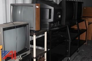 (8) Various Sized TV Carts