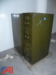 Lot of 3 Filing Cabinets and Storage Units
