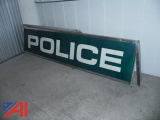 7' POLICE Sign in Lighted Box
