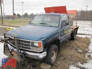 1990 Chevy K3500 Pickup w/ Plow