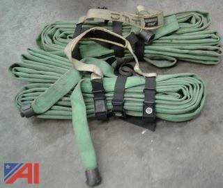 (2) Green 1 3/4 100' Handline Hoses