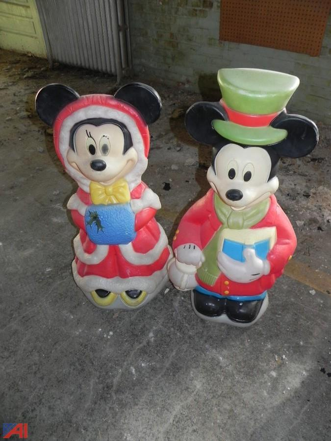 mickey mouse mini mouse christmas lawn decorations