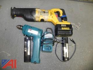 Makita 6012 HD Cordless Drill w/ Charger & Batteries  & DeWalt Saw