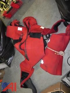 Lot of 2 Strearns Cold Water Rescue Suits