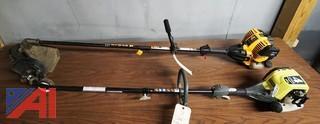 2) Pc Ryobi & Cub Cadet Gas Trimmer & Edger