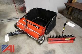 2) Pc Agri-Fab Lawn Sweeper & Aerator