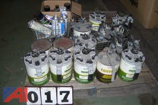 Pallet of Automotive Paint Tints