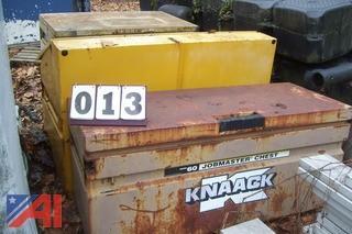 Lot of (3) Metal Tool Boxes