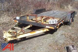 16' Tag A Long Equipment Trailer