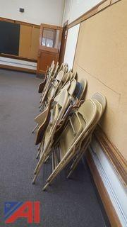 (22) Folding Arm Chairs