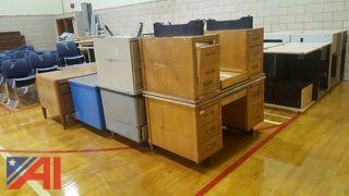 Lot of Assorted Desks and Table