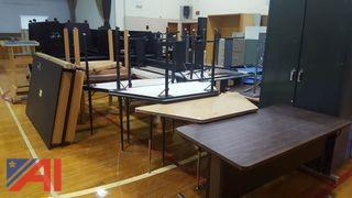Large Lot of Assorted Tables and Cupboards