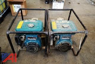 "(2) Makita Gas Powered 2"" Portable Trash Pumps"