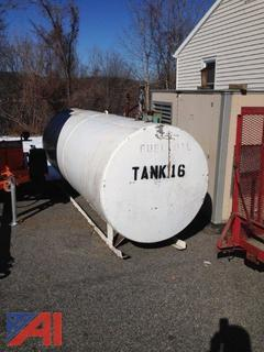 1,000 Gallon Steel Fuel Oil Tank