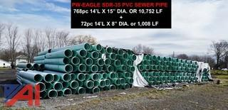 (840) piece of 14' SDR-35 PVC Sewer Pipe
