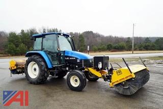 2002? New Holland TL90 Tractor with Hydraulic Broom
