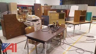 Lot of Assorted Office Furniture and More