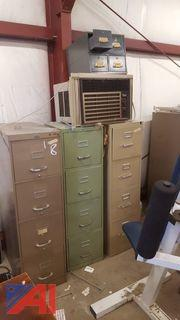 Lot of Assorted Filing Cabinets and More