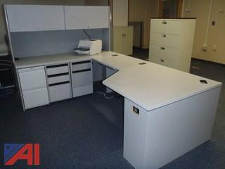 (2) Desk Units with Hutch