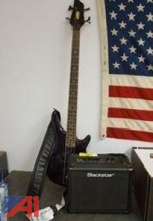 (1) Stagg Bass Guitar and (1) Blackstar Amp
