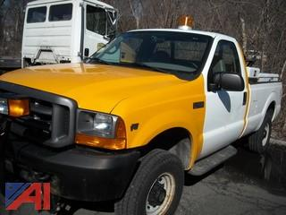 2000 Ford F3502SD Pickup with Plow & Frame