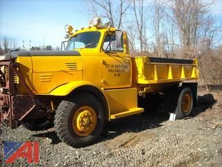 1958 Oshkosh Severe Duty Dump Truck w/Plow Frame and Rear Hitch