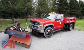 1998 Chevy Cheyenne 3500 1 Ton Dump Body Plow Truck
