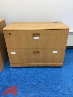 Wood File Cabinet 2-Drawer