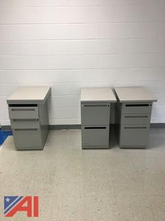 (3) Metal Cabinets