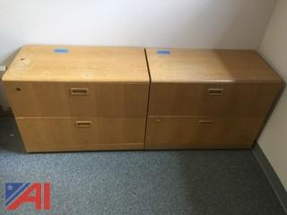 (2) Wood Filing Cabinets, 2-drawer