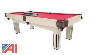 8' KBP-8003 Pool Table (cream colored)