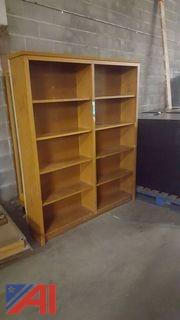 Wooden Showcase and Bookshelf