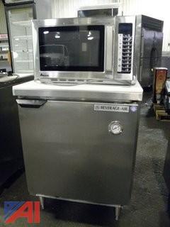 Prep Table and Microwave