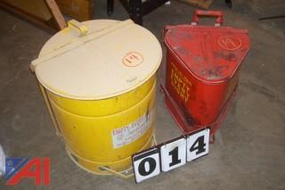 (2) Flammable Rag Storage Cans