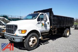 2000 Ford F650 XL Super Duty 16' Dump Body Truck
