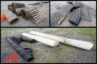 Lot Assorted Rolled Fencing, Screening & Ground Cover Materials