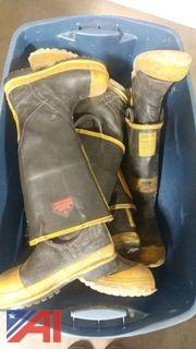 (10) Pairs of Fire Fighter Boots