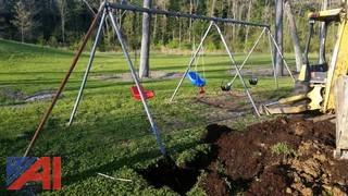 (2) Unassembled Commercial Swing Sets