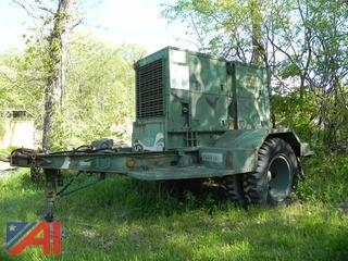 1982 Military Generator MEP 006A 50/60 kw on Trailer