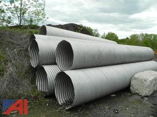(32) Aluminium Drainage Pipes Corrugated or Oblate