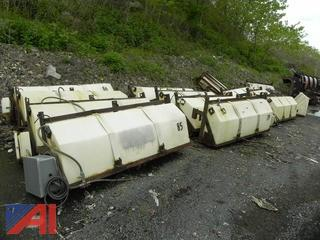 (13) Tailgate Mounted Plastic Tanks w/ Framework & Supports