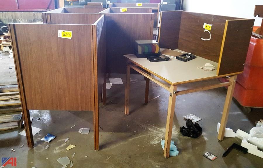 Auctions International   Auction: Liverpool CSD #10891 ITEM: (6) Study  Carrel Desks