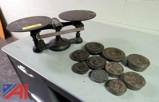 Vintage Chatillon Balance Scale & Weights