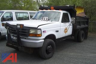1993 Ford F350 4X4 Dump with Plow