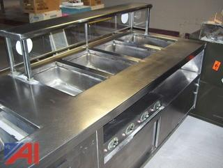 22' long Stainless Steel Serving line